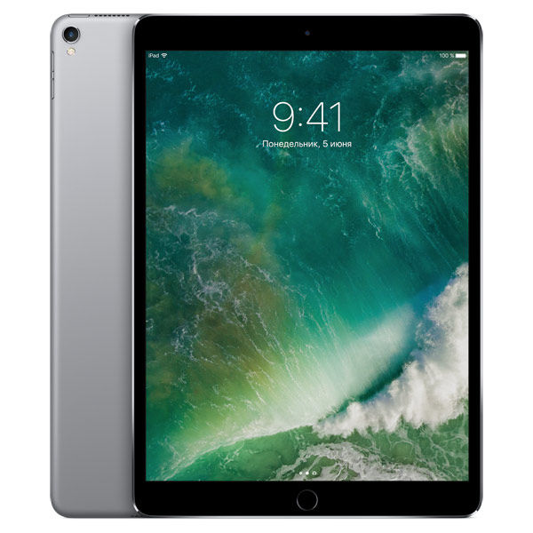 "Планшет APPLE iPad Pro 2017 10.5"" 256Gb Wi-Fi MPDY2RU/A,  4GB, 256Гб, iOS темно-серый"