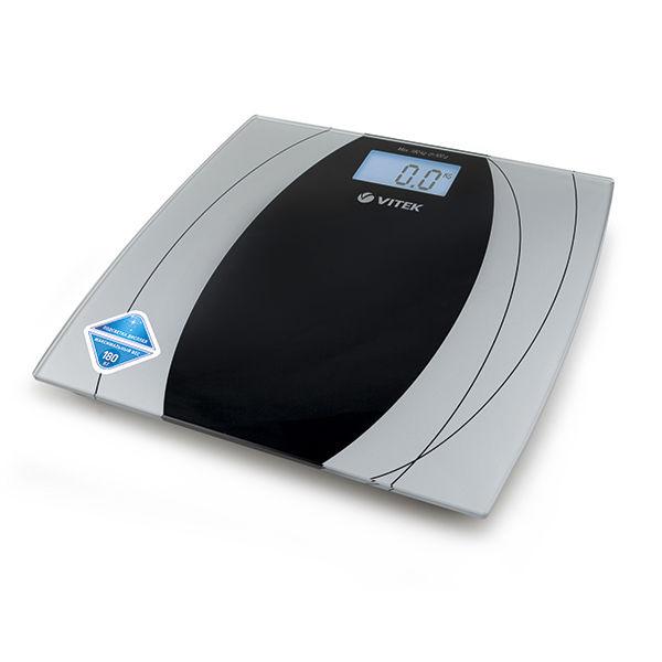 Напольные весы VITEK VT-8061 SR, до 180кг, цвет: серебристый/черный [8061-vt-01]