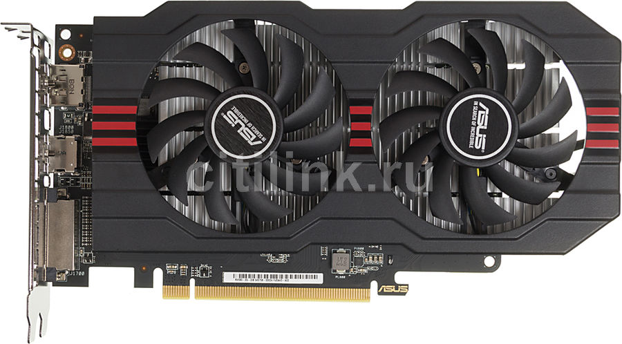 Видеокарта ASUS Radeon RX 560,  RX560-2G,  2Гб, GDDR5, Ret