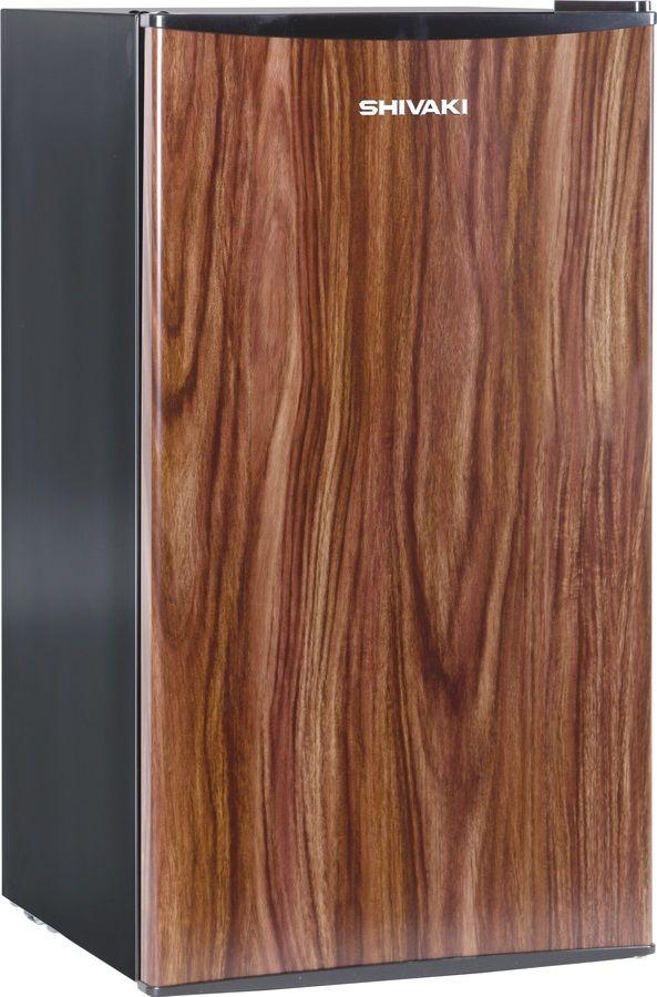 Холодильник SHIVAKI SDR-082T,  однокамерный, темное дерево