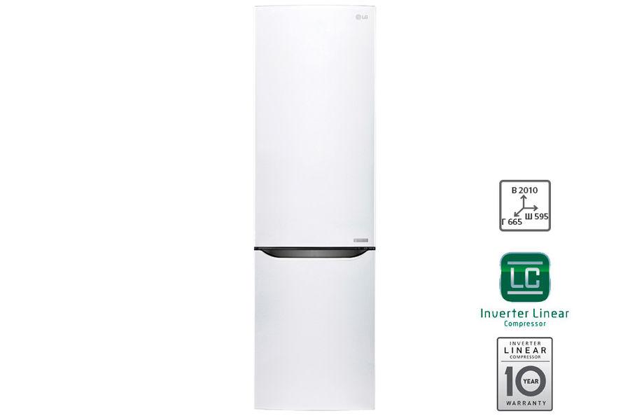 Холодильник LG GW-B499SQGZ белый (плохая упаковка)