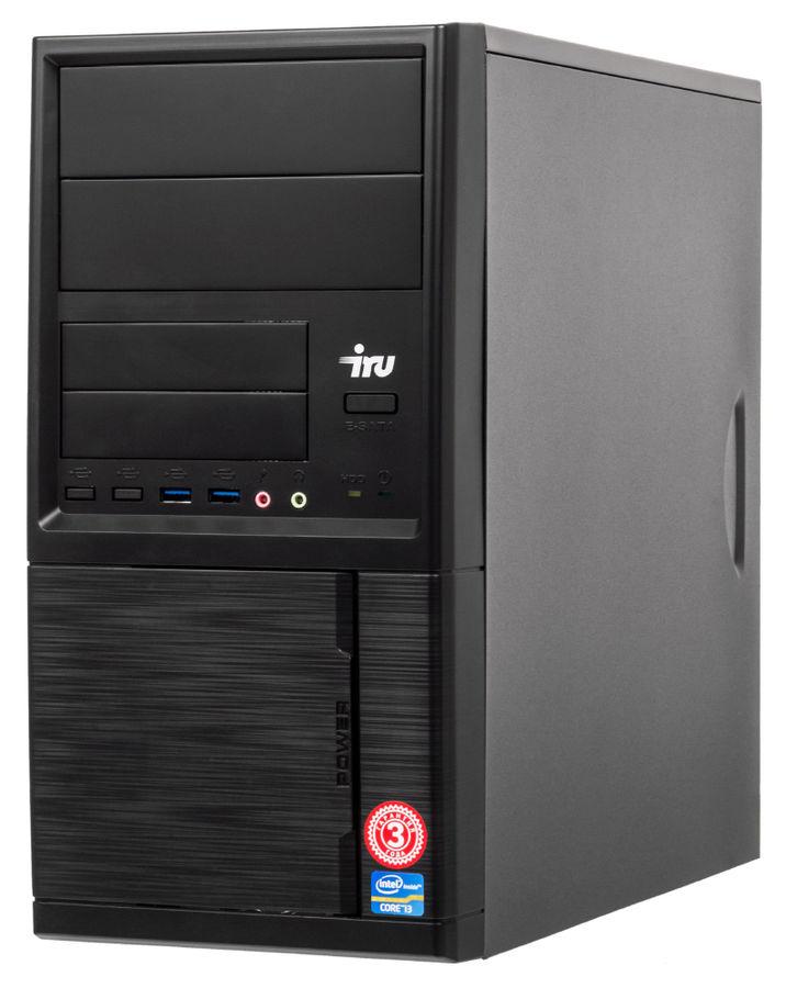 Компьютер  IRU Office 510,  Intel  Core i5  7400,  DDR4 8Гб, 1Тб,  Intel HD Graphics 630,  Free DOS,  черный [485600]