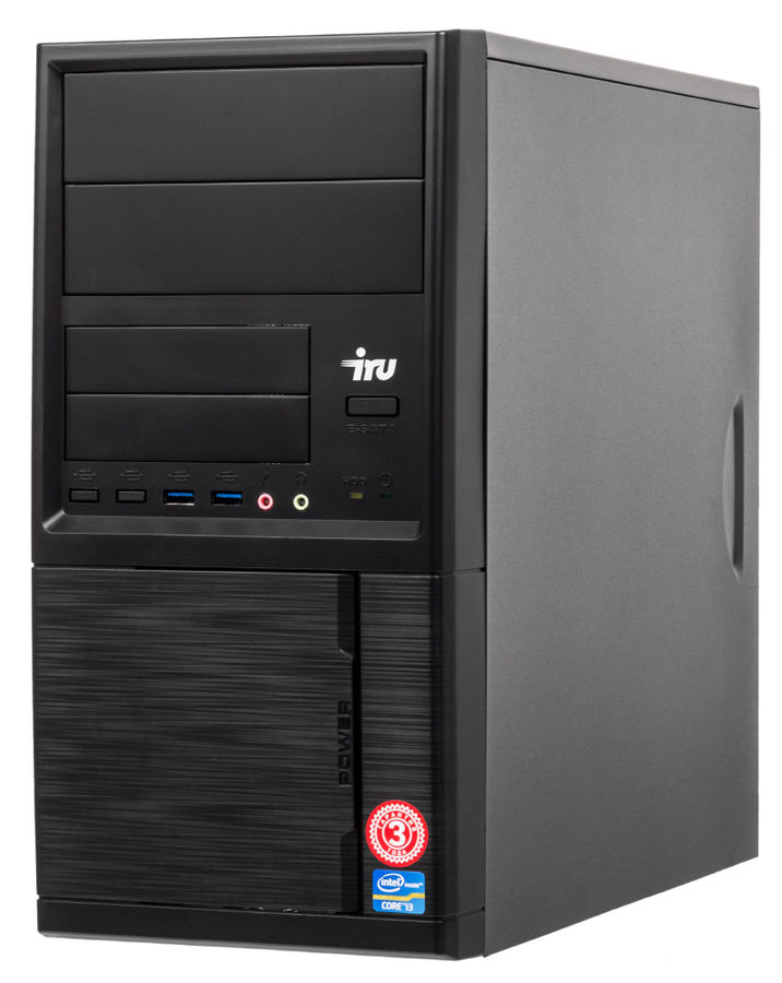 Компьютер  IRU Office 321,  AMD  A8  7600,  DDR3 8Гб, 1000Гб,  AMD Radeon R7,  Windows 10 Home,  черный [485755]