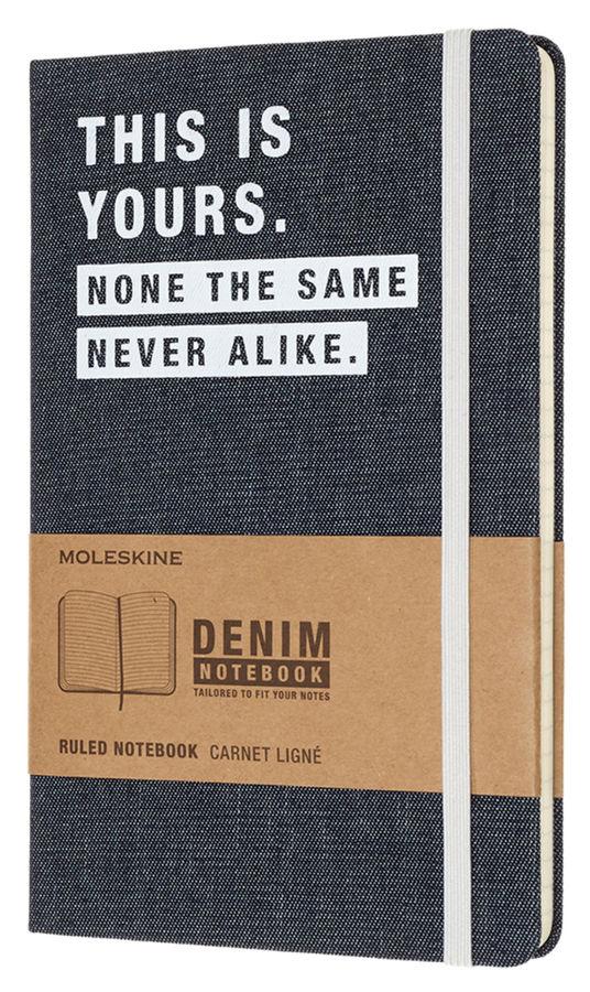 Блокнот Moleskine Limited Edition DENIM NOTEBOOKS Large 130х210мм 240стр. линейка This Yors [lcdnqp060t]
