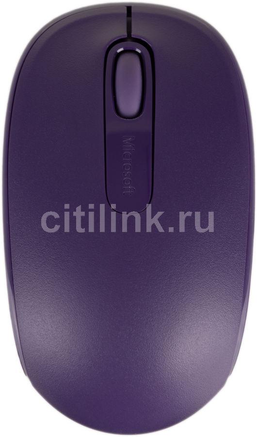 Мышь MICROSOFT Mobile Mouse 1850 оптическая беспроводная USB, фиолетовый [u7z-00044]