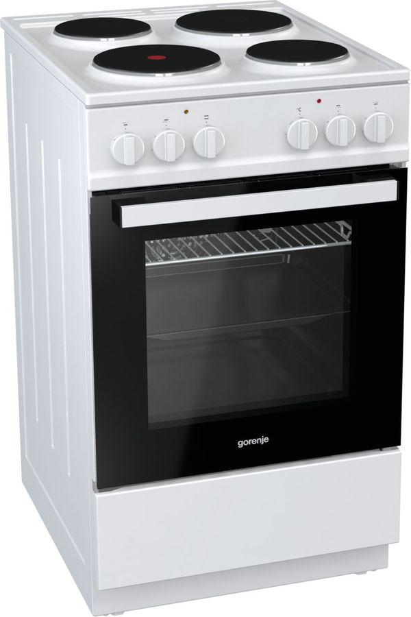 Электрическая плита GORENJE E5121WH-B,  эмаль,  белый