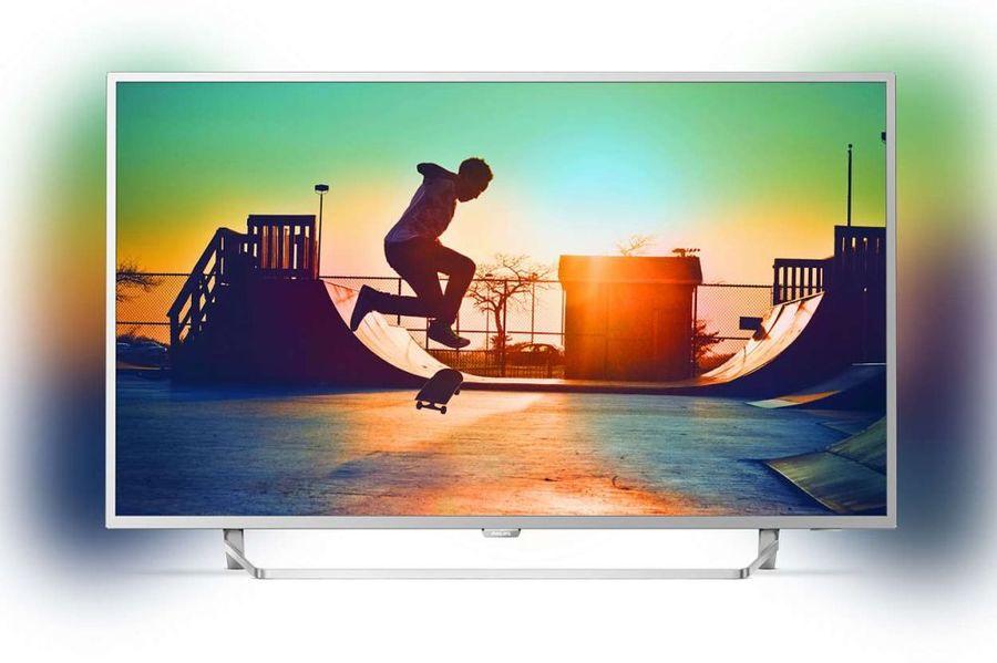 "Телевизор LED Philips 49"" 49PUS6412/12 серебристый/Ultra HD/900Hz/DVB-T/DVB-T2/DVB-C/USB/WiFi/S(Б/У)"