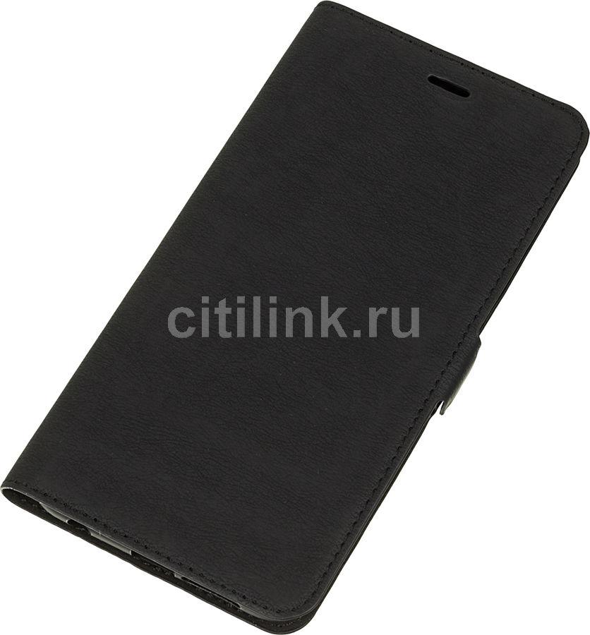 Чехол (флип-кейс) DF hwFlip-23, для Huawei Honor 9, черный