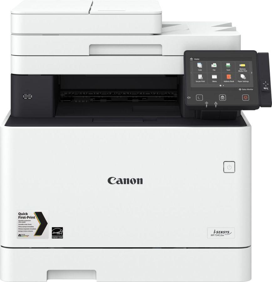 МФУ CANON i-Sensys Colour MF734Cdw,  A4,  цветной,  лазерный,  белый [1474c028]