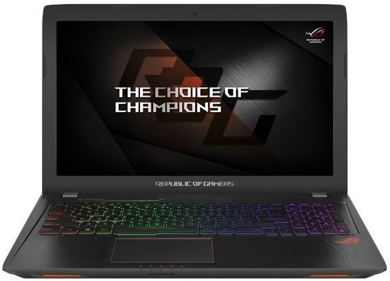 "Ноутбук ASUS ROG GL553VE-FY037, 15.6"", Intel  Core i7  7700HQ 2.8ГГц, 8Гб, 1000Гб, 128Гб SSD,  nVidia GeForce  GTX 1050 Ti - 4096 Мб, DVD-RW, Endless, 90NB0DX3-M01590,  черный"