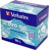 Оптический диск DVD-RW VERBATIM 4.7Гб 4x, 10шт., jewel case [43486] вид 1
