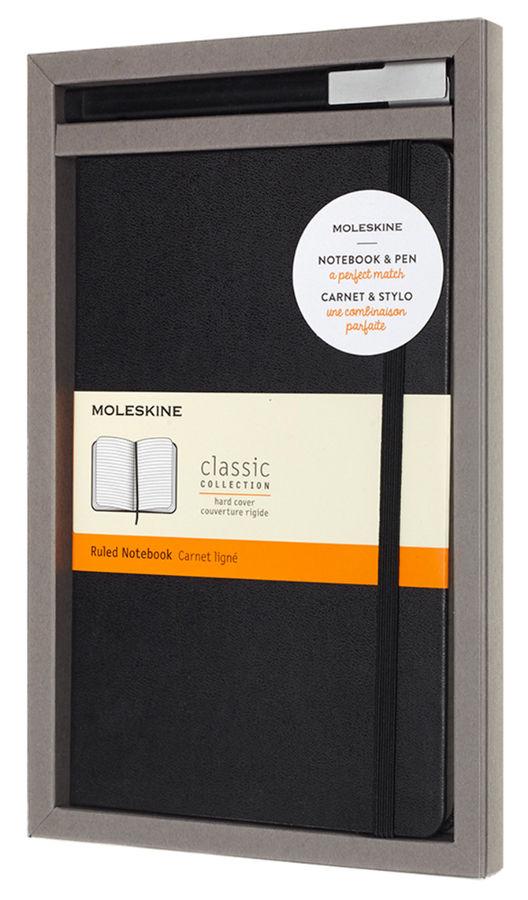 Набор Moleskine BUNDLE VERTICAL блокнот/ручка блокн.:Classic Large линейка черный [bundvlgbk]
