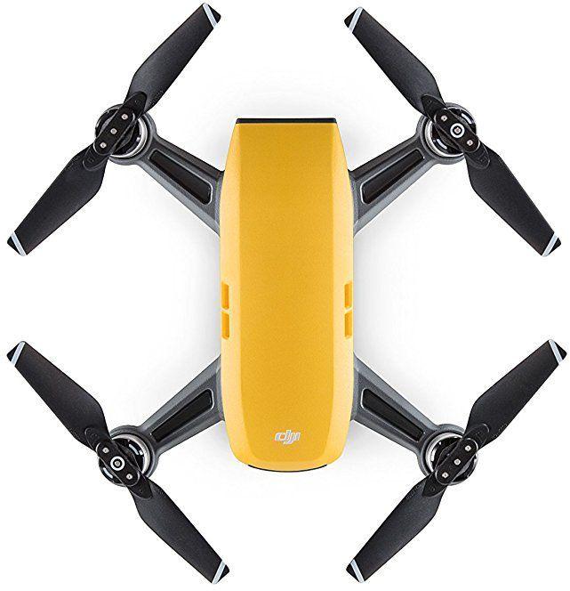 Квадрокоптер DJI Spark fly more COMBO с камерой,  желтый