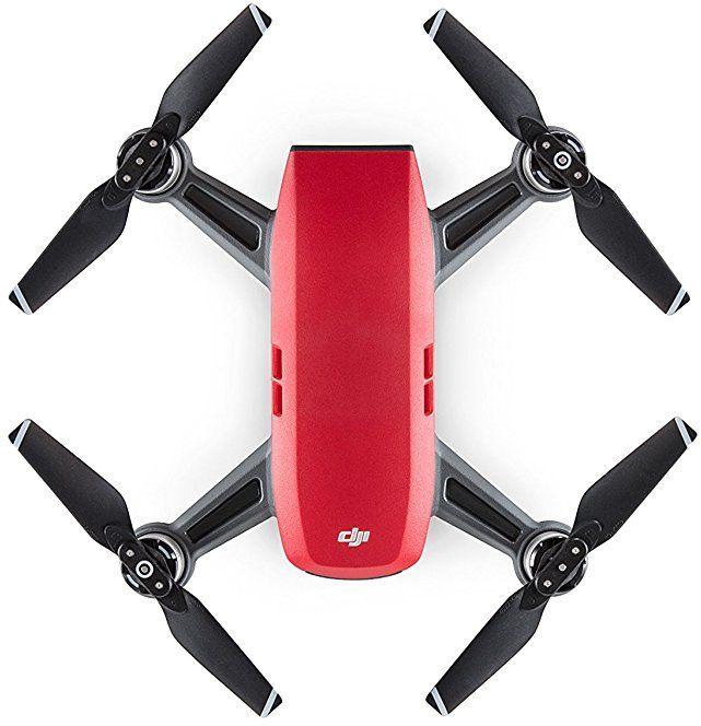 Квадрокоптер DJI Spark fly more COMBO с камерой,  красный