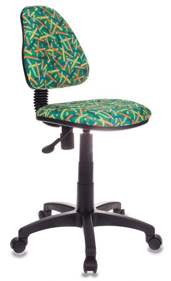 Кресло детское БЮРОКРАТ KD-4, на колесиках, ткань, зеленый [kd-4/pencil-gn]