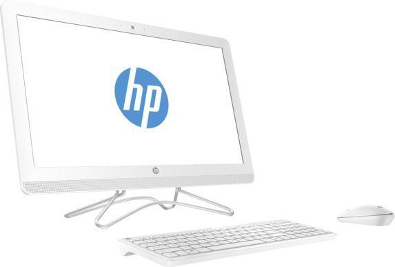Моноблок HP 24-e050ur, Intel Core i5 7200U, 4Гб, 1000Гб, Intel HD Graphics 620, DVD-RW, Free DOS 2.0, белый [2bw43ea]