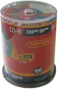 Оптический диск CD-R DIGITEX 700Мб 52x, 100шт., cake box, printable [r80i52-c100]