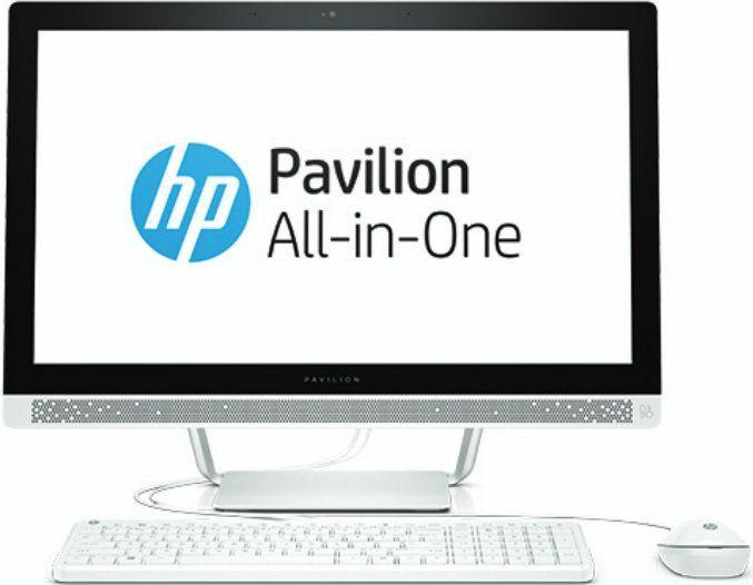 Моноблок HP 24-b221ur, AMD A12 9730P, 12Гб, 2Тб, AMD Radeon R7, DVD-RW, Windows 10, белый [1aw91ea]