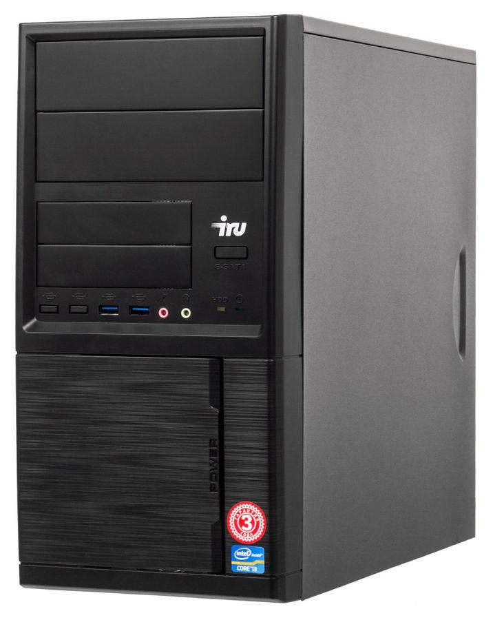 Компьютер  IRU Corp 319,  Intel  Core i3  4170,  DDR3 8Гб, 120Гб(SSD),  Intel HD Graphics 4400,  Windows 10 Professional,  черный [491764]