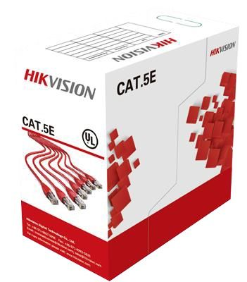 Кабель информ. Hikvision DS-1LN5E-S кат.5е PVC внутр. 305м сер.