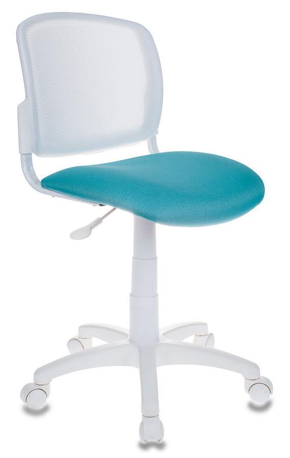 Кресло детское БЮРОКРАТ CH-W296NX, на колесиках, ткань, бирюзовый [ch-w296nx/15-175]
