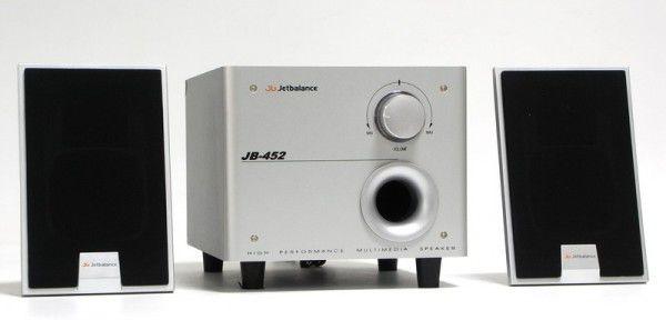 Колонки JETBALANCE JB-452,  серебристый