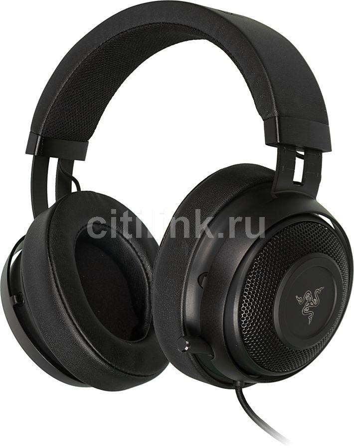 Наушники с микрофоном RAZER Kraken 7.1 V2 Oval,  мониторы, черный  [rz04-02060200-r3m1]