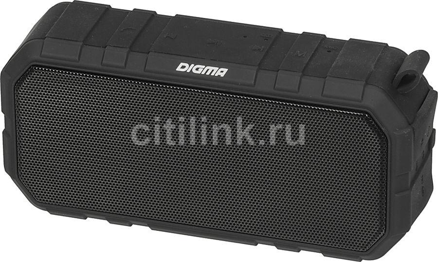 Портативная колонка DIGMA S-40,  10Вт, черный
