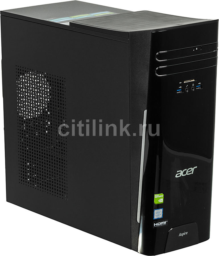 Компьютер  ACER Aspire TC-780,  Intel  Core i5  7400,  DDR4 8Гб, 1000Гб,  NVIDIA GeForce GT1030 - 2048 Мб,  DVD-RW,  CR,  Windows 10 Home,  черный [dt.b89er.022]