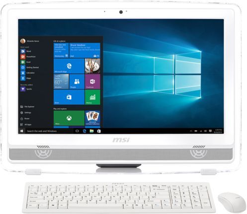 Моноблок MSI Pro 22E 4BW-026RU, Intel Celeron N3160, 4Гб, 1000Гб, Intel HD Graphics 400, DVD-RW, Windows 10, белый [9s6-ac1612-026]