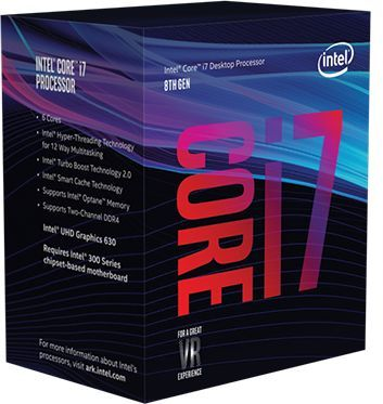 Процессор INTEL Core i7 8700, LGA 1151v2 BOX [bx80684i78700 s r3qs]