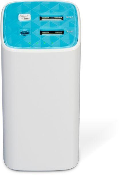Внешний аккумулятор TP-LINK TL-PB10400,  10400мAч,  белый/голубой [tl-pb10400 promo]