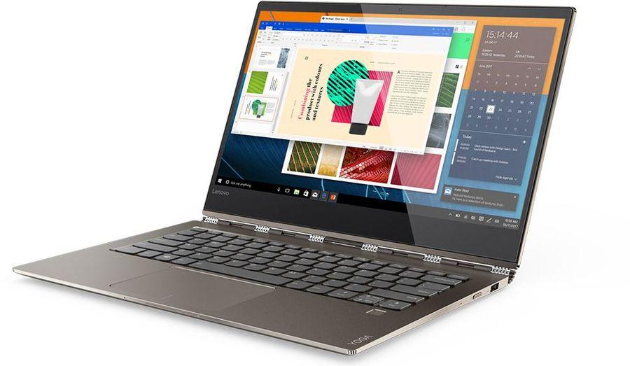 """Ноутбук-трансформер LENOVO YOGA 920-13IKB, 13.9"""", Intel  Core i7  8550U 1.8ГГц, 16Гб, 512Гб SSD,  Intel HD Graphics  620, Windows 10, 80Y7001RRK,  медный"""