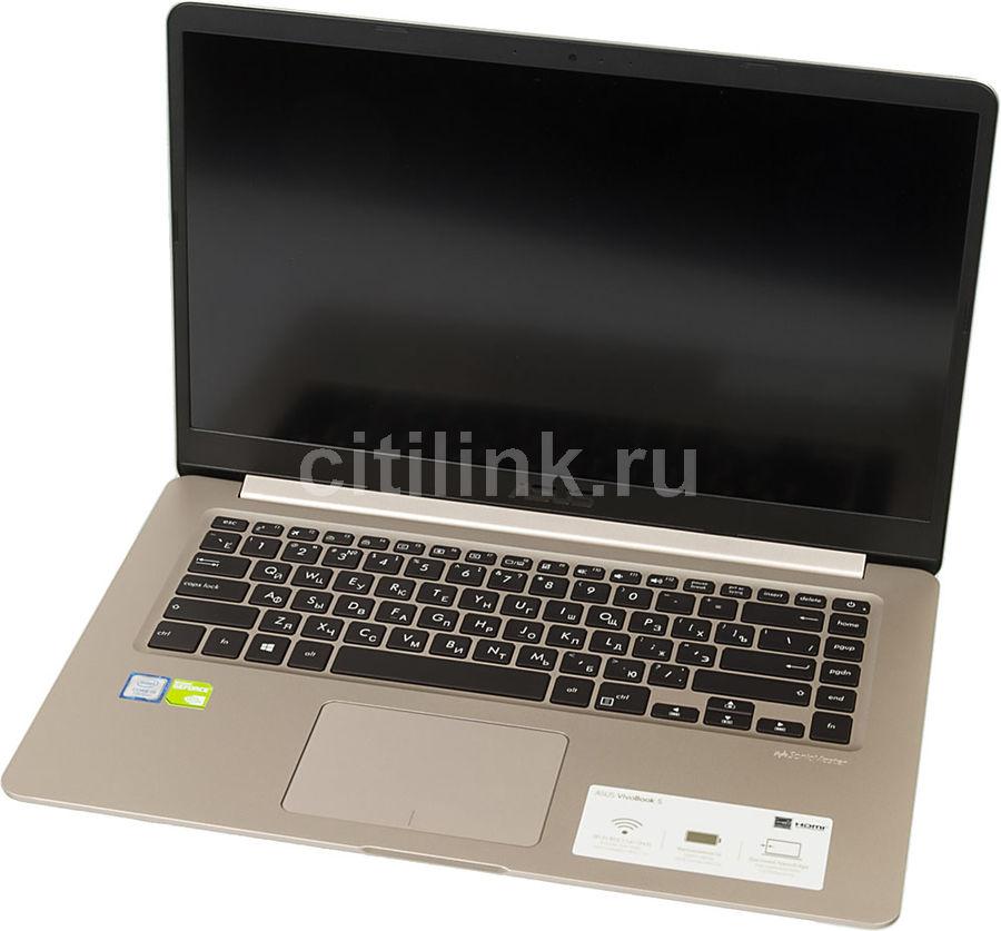 "Ноутбук Asus S510UN-BQ019T i5 7200U/8Gb/1Tb/SSD128Gb/Mx150 2Gb/15.6""/FHD/W10/gold/ (мех. повреждения)"