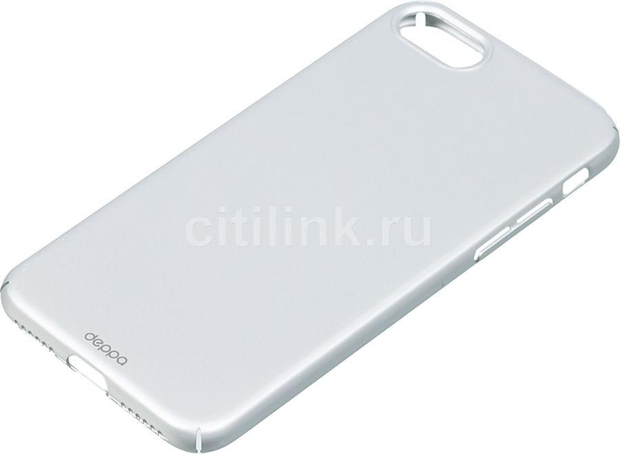 Чехол (клип-кейс) DEPPA Air Case, для Apple iPhone 7/8, серебристый купить по цене 590 рублей в интернет-магазине СИТИЛИНК