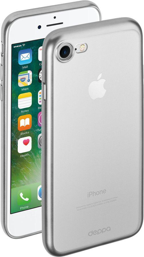 Чехол (клип-кейс) DEPPA Gel Plus Case, для Apple iPhone 7/8, серебристый купить по цене 740 рублей в интернет-магазине СИТИЛИНК