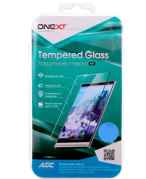 Защитное стекло для экрана ONEXT для Motorola Moto E4 Plus,  1 шт, прозрачный [41352]