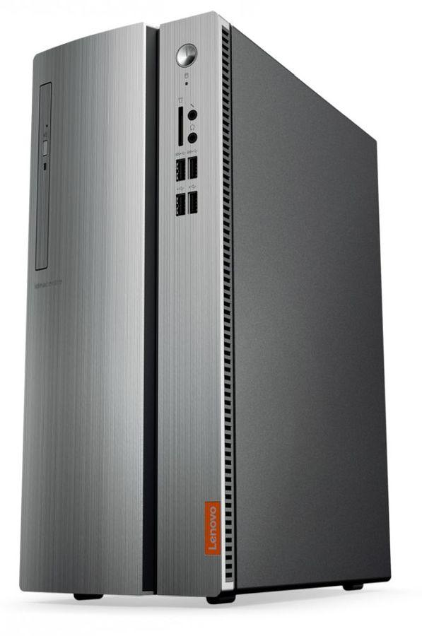Компьютер  LENOVO IdeaCentre 510-15IKL,  Intel  Core i3  7100,  DDR4 8Гб, 1000Гб,  AMD Radeon RX 550 - 2048 Мб,  DVD-RW,  Windows 10,  черный и серебристый [90g800amrs]