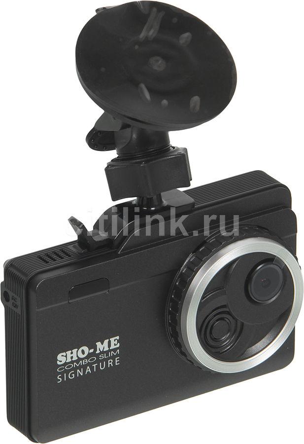 Радар-детектор SHO-ME Combo Slim Signature,  черный