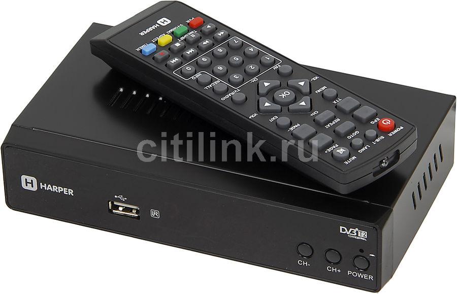 Ресивер DVB-T2 Harper HDT2-5050 черный(Б/У)