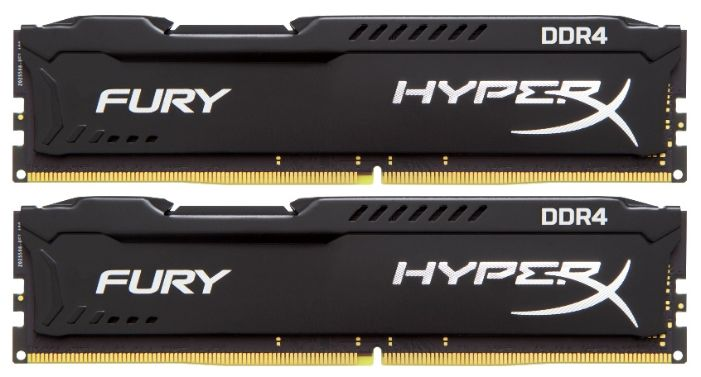 Модуль памяти KINGSTON HyperX FURY Black HX421C14FB2K2/16 DDR4 -  2x 8Гб 2133, DIMM,  Ret