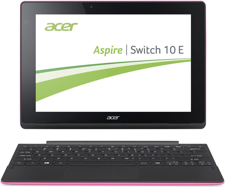 "Планшет-трансформер ACER SW3-016-140S, 10.1"", Intel  Atom X5  Z8300 1.44ГГц, 2Гб, 500Гб, 32Гб SSD,  Intel HD Graphics , Windows 10, NT.G8ZER.001,  розовый"