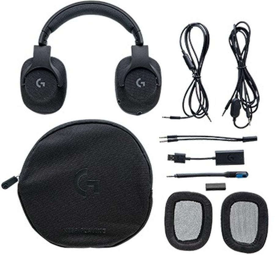 Наушники с микрофоном LOGITECH G433 TRIPLE,  мониторы, черный  [981-000668]