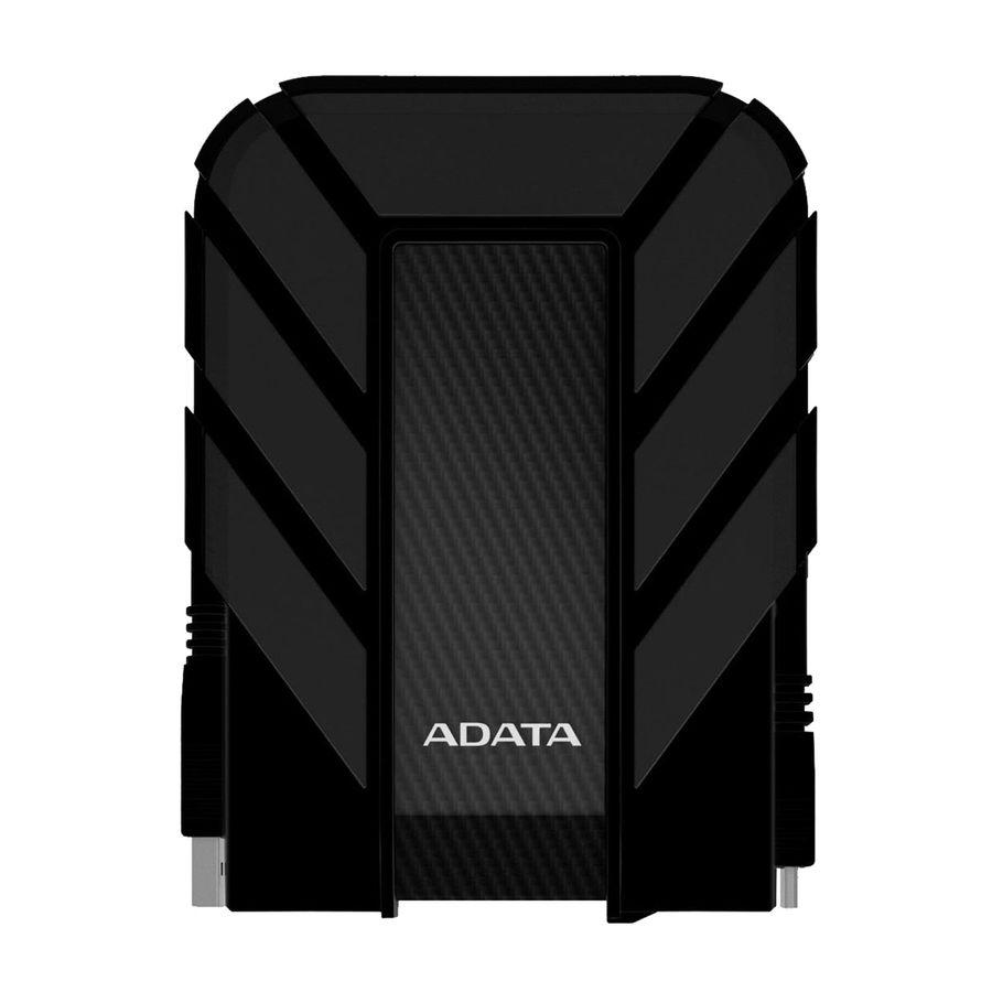 Внешний жесткий диск A-DATA DashDrive Durable AHD710-1TU3-CRD, 1Тб, черный/красный