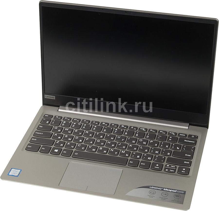 "Ноутбук LENOVO IdeaPad 320S-13IKB, 13.3"", Intel  Core i3  7100U 2.4ГГц, 4Гб, 128Гб SSD,  Intel HD Graphics  620, Windows 10, 81AK001RRK,  серый"