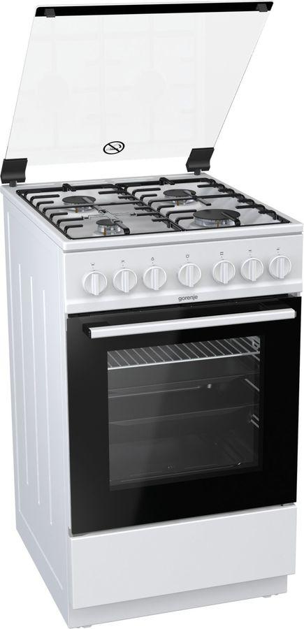 Газовая плита GORENJE GI5221WH,  газовая духовка,  белый