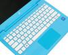 "Ноутбук HP Stream 11-y011ur, 11.6"", Intel  Celeron  N3060 1.6ГГц, 4Гб, 32Гб SSD,  Intel HD Graphics  400, Windows 10, 2EQ25EA,  голубой вид 9"
