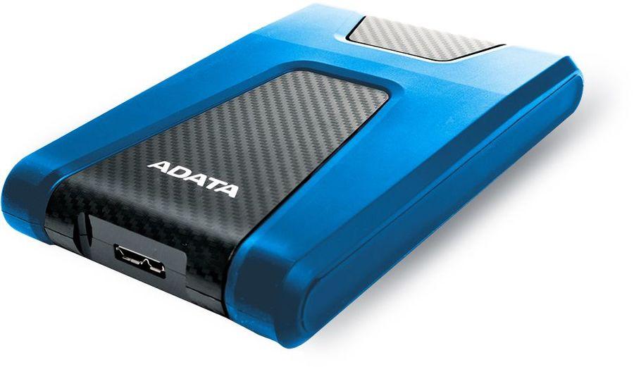 Внешний жесткий диск A-DATA DashDrive Durable HD650, 2Тб, синий [ahd650-2tu31-cbl]