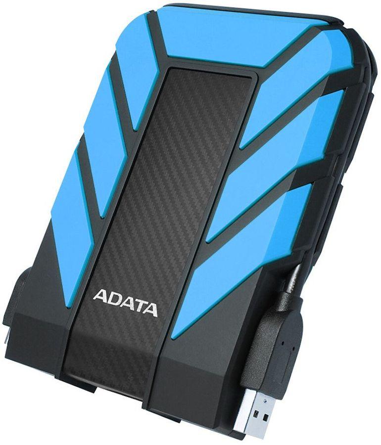 Внешний жесткий диск A-DATA DashDrive Durable HD710P, 1Тб, синий [ahd710p-1tu31-cbl]