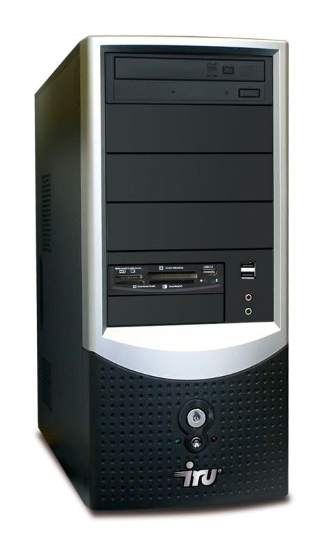 IRU Intro Home 123W,  Intel  Celeron  E1200,  DDR2 1Гб, 250Гб,  ATI Radeon HD 3450 - 256 Мб,  DVD-RW,  CR,  Windows Vista Starter,  черный и серебристый